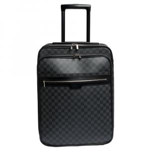 Louis Vuitton Damier Graphite Canvas Business Pegase Legere 50 Luggage Bag