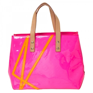 Louis Vuitton Neon Pink Monogram Vernis Limited Edition Robert Wilson Reade PM Bag