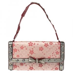 Louis Vuitton Red Cherry Blossom Monogram Satin Limited Edition Takashi Murakami Bag