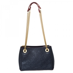 Louis Vuitton Marine Rouge Monogram Empreinte Leather Surene BB Bag