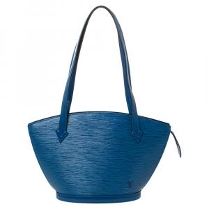 Louis Vuitton Toledo Blue Epi Leather Saint Jacques PM Bag