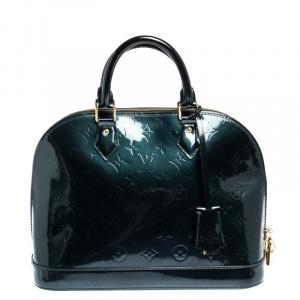 Louis Vuitton Bleu Nuit Monogram Vernis Leather Alma PM Bag