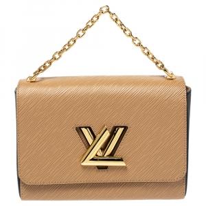 Louis Vuitton Camel Epi Leather Twist MM Bag