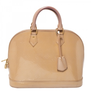 Louis Vuitton Noisette Monogram Vernis Leather Alma PM Bag