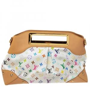 Louis Vuitton White Monogram Multicolor Canvas Judy GM Bag