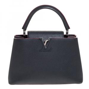 Louis Vuitton Cobalt Fuschia Taurillon Leather Capucines PM Bag