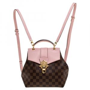 Louis Vuitton Magnolia Pink Damier Ebene Canvas Clapton Backpack