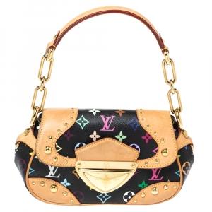 Louis Vuitton Black Monogram  Multicolore Canvas Marilyn Bag