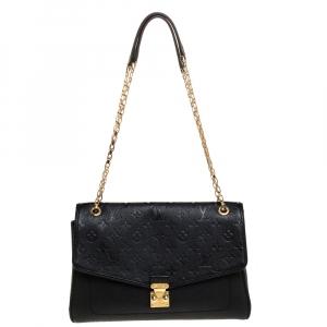 Louis Vuitton Black Monogram Empreinte Leather St Germain MM Bag