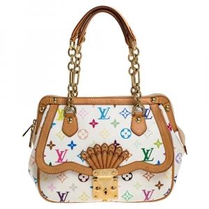Louis Vuitton White Monogram Multicolore Limited Edition Gracie MM Bag