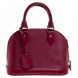 Louis Vuitton Fuchsia Epi Leather Alma BB Bag