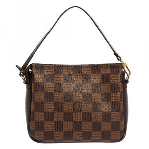 Louis Vuitton Damier Ebene Canvas Trousse Pochette Bag
