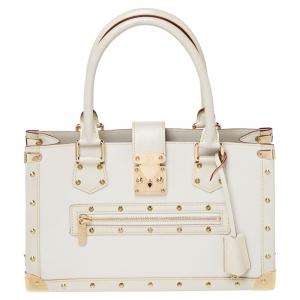 """حقيبة لوي فيتون """"لو فابولوس"""" جلد سوهالي أبيض"""