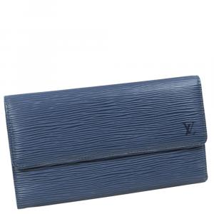 محفظة لوي فيتون تريسور إنترناشونال إيبي بورت زرقاء