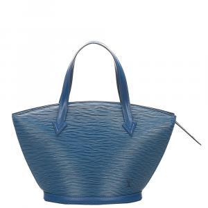حقيبة لوي فيتون سان جاك جلد إيبي أزرق صغيرة