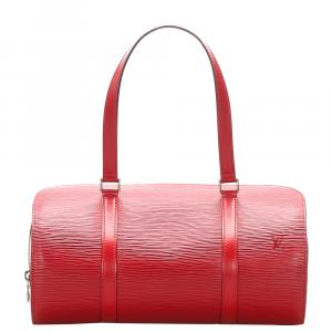 Louis Vuitton  Leather  Soufflot Satchels