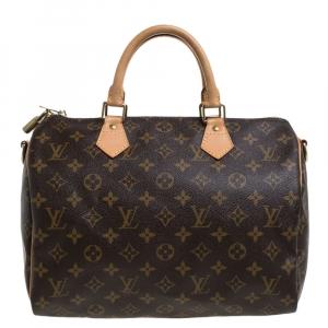Louis Vuitton Monogram Canvas Speedy Bandouliere 30 Bag