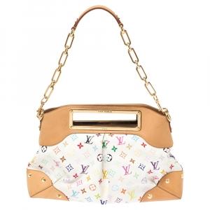 Louis Vuitton White Monogram Multicolore Canvas Judy GM Bag