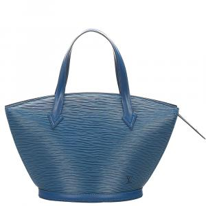 Louis Vuitton Blue Epi Leather Saint Jacques PM Bag
