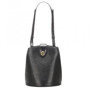 Louis Vuitton Black Epi Leather Cluny Bag