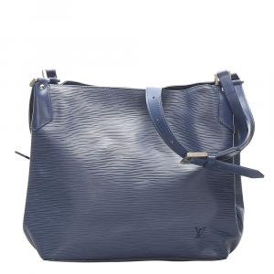 Louis Vuitton Blue Epi Leather Mandara MM Bag