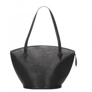 """حقيبة لوي فيتون """"سان جاكوب جي إم"""" حمالة طويلة جلد إيبي أسود"""
