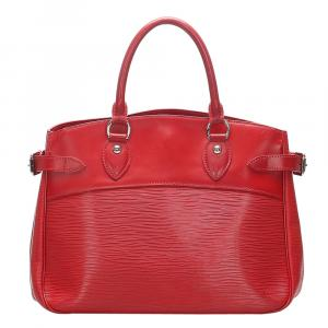 Louis Vuitton Red Epi Leather Passy PM Bag