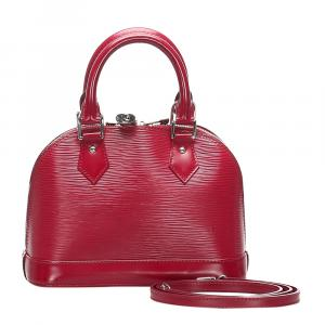 Louis Vuitton Red Epi Leather Alma BB Bag