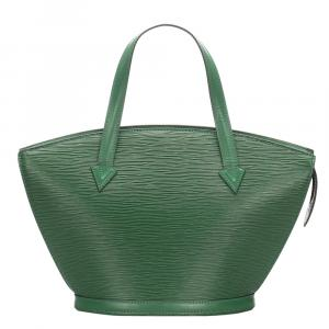حقيبة لوي فيتون حمالات قصيرة سان جاكز جلد أيبي خضراء PM