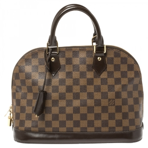 Louis Vuitton Damier Ebene Canvas Alma PM Bag