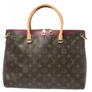 Louis Vuitton Grape Monogram Canvas Pallas MM Bag