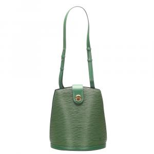 Louis Vuitton Green Epi Leather Cluny Bag