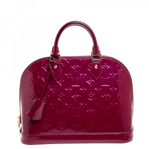 Louis Vuitton Indian Rose Monogram Vernis Leather Alma PM Bag