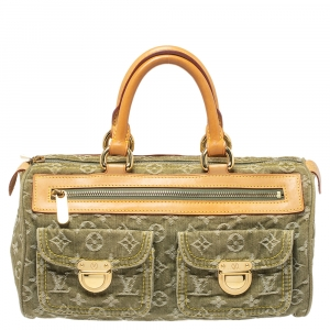 Louis Vuitton Green Monogram Denim Neo Speedy Bag