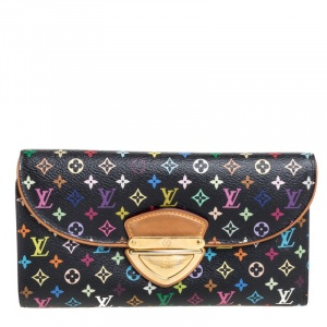 Louis Vuitton Black Monogram Multicolor Canvas Eugenie Wallet