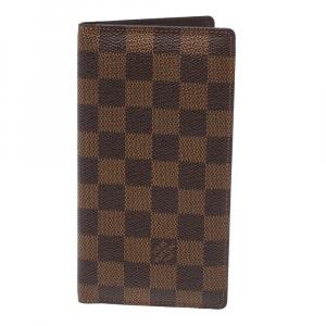 Louis Vuitton Damier Ebene Canvas Brazza Wallet