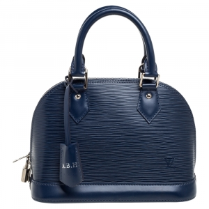 Louis Vuitton Indigo Epi Leather Alma BB Bag