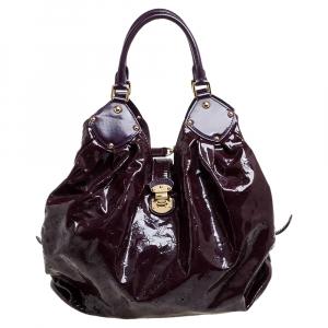 حقيبة لوي فيتون سوريا إصدار محدود جلد لامعة ماهينا أمارانت إكس لارج