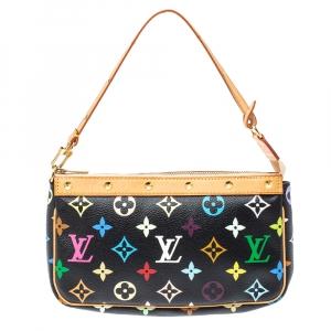 Louis Vuitton Black Multicolor Monogram Canvas Pochette Accessories