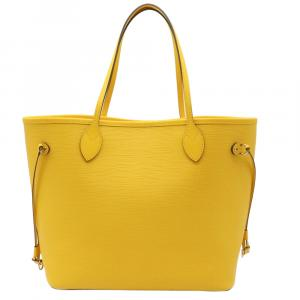 Louis Vuitton Yellow Epi Leather Neverfull MM Tote Bag