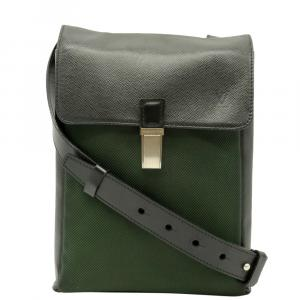 Louis Vuitton Green Taiga Leather Saratov PM Bag