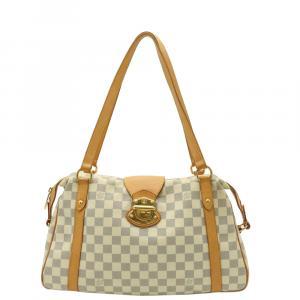 Louis Vuitton White Damier Azur Stresa PM Tote Bag