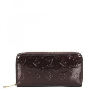 Louis Vuitton Brown Monogram Vernis Zippy Wallet