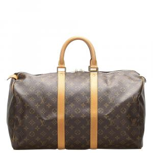 Louis Vuitton  Canvas  Keepall  45 Duffel Bags