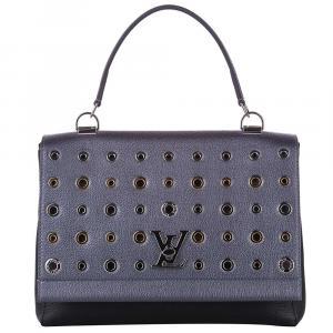 Louis Vuitton Grey Leather Eyelet Lockme II Bag