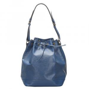 Louis Vuitton Blue Epi Leather Noe Bag