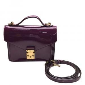 Louis Vuitton Purple Monogram Vernis Monceau BB Bag