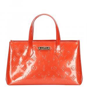 Louis Vuitton Orange Monogram Vernis Wilshire PM Bag