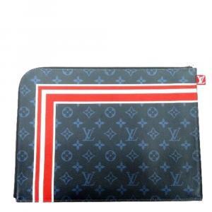 Louis Vuitton Monogram Cobalt Canvas Pochette Jules GM Clutch Bag