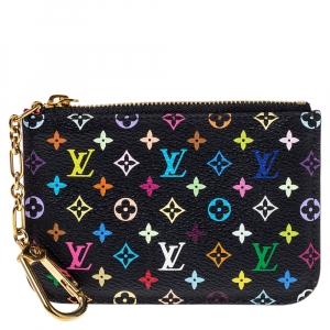 Louis Vuitton Black Multicolor Monogram Canvas Pochette Cles Pouch